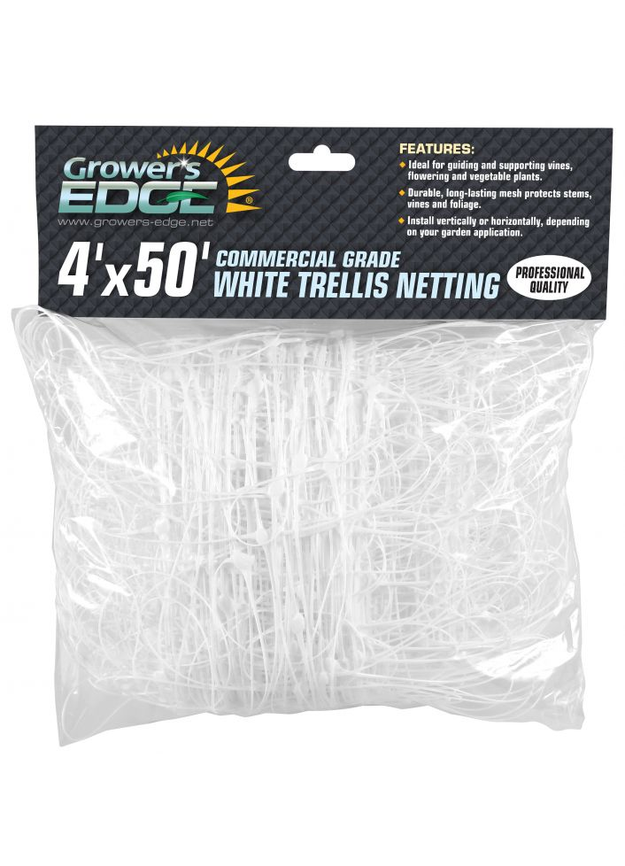 Grower's Edge® Commercial Grade Trellis Netting for SCROG 4X50FT