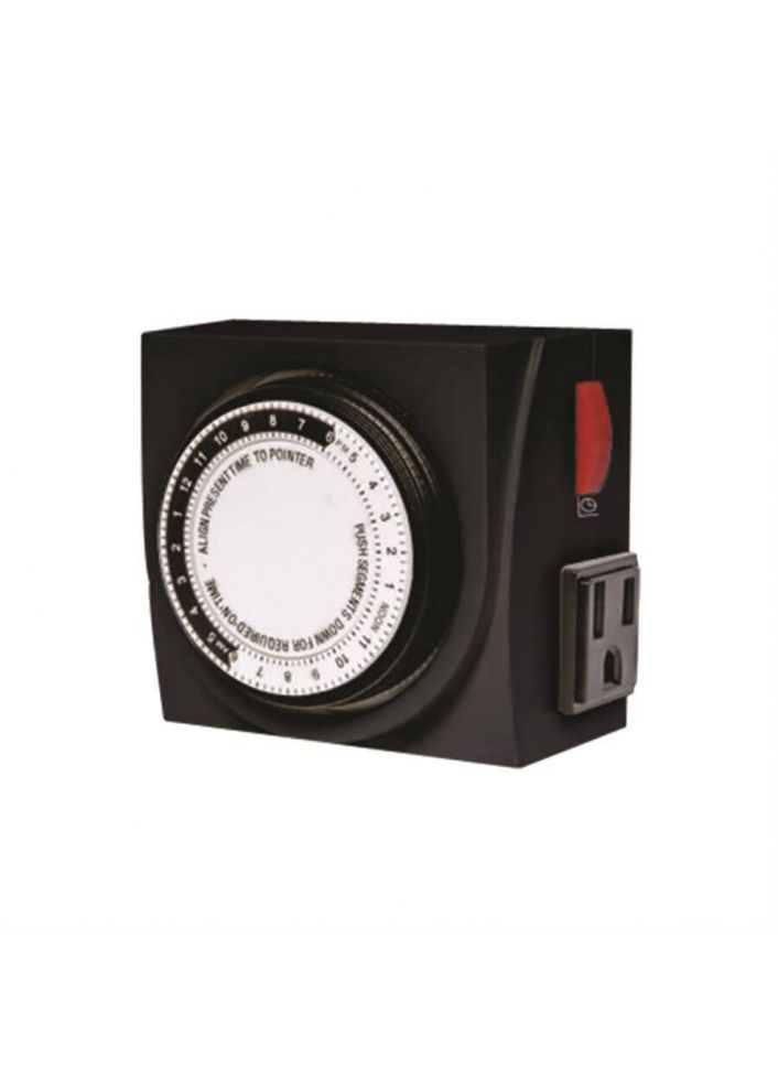 TIMER TIMEMASTER 120V MECHANICAL TWO OUTLETS MAX. 15A